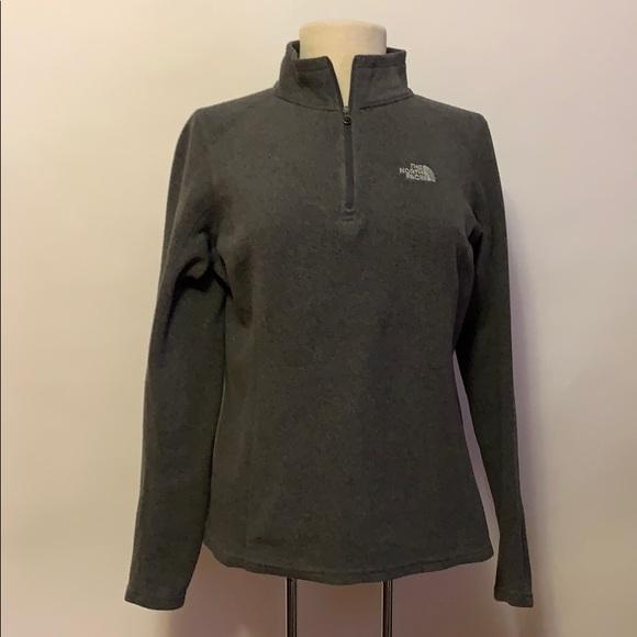 The North Face Jackets & Blazers - The North Face Gray Half-Zip Fleece Jacket